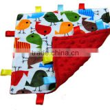 100% Polyester China Baby Security Baby Blanket for Baby Tag Play