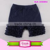Wholesale popular solid color toddler icing capris cotton black kids icing shorts