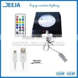 JEEJA New deisgn spray oil square Led Light Base With AAA Battery/AC adapter Power Option