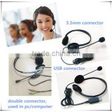 best call center headset/telephone headset for telephone operator/2015 top selling products