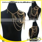 pearl sex body chain jewelry for women, shoulder body chain
