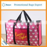 Travel Cartoon pictures printing PP non Woven shopping tote Bag for travel With Zipper