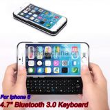 "new arrival factory sales for iphone6/6s 4.7"" sliding bluetooth keyboard ultra-thin backlight keyboard for smartphone"