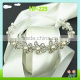 Wholesale bling decorative headband with rhinestone and pearl