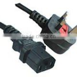 U.K.Power Cord AC Power cord British BSI standard