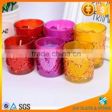 Wedding decorative crystal candle holder with paraffin wax