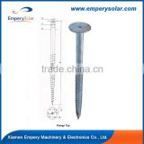76mm*3mm*1200mm ground screw pole anchor screw for fence