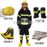 EN469 4 floors Fireman's Fire-fighting Suit with Fire Helmet,Fire Gloves And Fire Boots