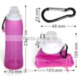 ornament silicone foldable water bottle/hot and cold water bottle/bpa free sports water bottle,thermos