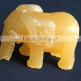 yellow crystal gemstone animals elephant carving