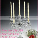 Crystal wedding decoration Exquisite Crystal Pillar Candle Holders