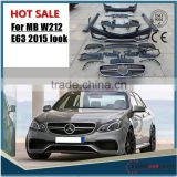 E63 body kit for MB E-class W212 2014 year E63 PP material! Tested fitment! FACTORY PRICE