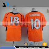 Daijun oem high quality many color available polyester v neck quick dry printing custom logo men american football jersey