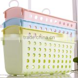 Plastic double hanging basket kitchen bathroom toilet receive basket hanging shelf hanging basket office desktop hook