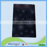 Printed newest design enviromental black pp/plastic placemat kitchen accessories, place mat supplier and manufacture