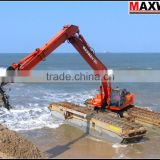 3 chains Amphibious Pontoon for Excavator , Suitable to 20 to 23Ton Class Excavator , Model: MAX200PU