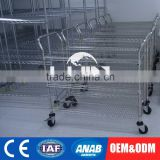 Custom-made Display Commercial Garment Rack And Stands Stainless Steel Shelf For Hanging