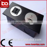 Aluminum Alloy Office Wall Mount Power Socket with Back Security Box for Office Electrical Plate