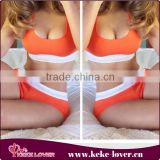 2015 latest designer sexy muslim bikini swimwear women orange plus size bikini push up sexy swimwear