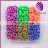 rubber bands in three layers plastic box with components loom bands for kids diy jewerly