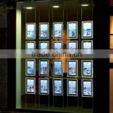 Transparency lightbox display sign hanging window led light pockets