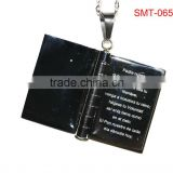 Fashion bible necklace pendant 316L stainless steel charms