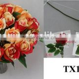 import China fabric artificial flower bouquet, artificial rose flower