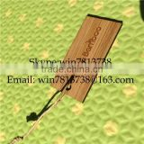Wood Engraved Business Card With Rope Wooden Garment Hang Tags For Jeans Wooden ID Card Singapore Garment Tag