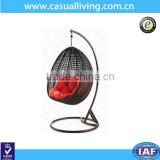 Outdoor Modern furniture Round Wicker Rattan Hanging Egg Shaped Garden Swing Chair