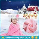 Wholesale Pure Polyester Knitted Flannel Fabric for Baby Quilts