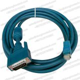 DB15 Male to RJ45 straight Modular Adapter Patch Cable Image