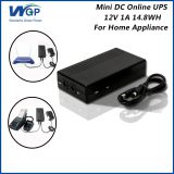 Home use mini ups 12V 1A output li ion battery cell power dc online ups price to pakistan karachi