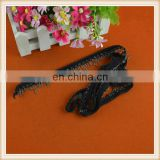 New wholesale cutom black cotton ribbon tape with chain tassel fringe decoration for garment hot sale