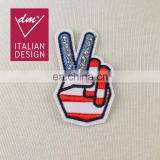 Hotest yeah gesture handmade patch rhinestone applique