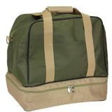 waterproof polyester travel bag with shoes bag at bottom