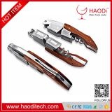 Premium Waiters Bamboo,Professional Stainless Steel with Rosewood Inlay All-in-one Corkscrew, Bottle Opener and Foil Cut