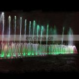 Square Landscape outdoor fountain nozzles colorful floating water fountain