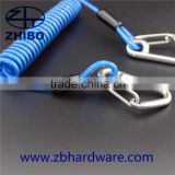 Diving Stainless Steel Reef Spiral Coil Lanyard with double hook