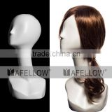 Fiberglass Female White Head Mannequin Dispaly Jewelry/ hat /scarf/wig mannequin head H1113