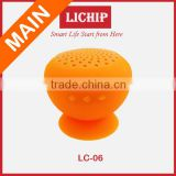 Smart Mobile phone hands-free Mini support with sucker LC-211A Mushroom bluetooth speaker