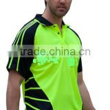 100% Polyester micro mesh new fashion Spider Polo shirts for men with reflective stripe Short Sleeve Work shirt