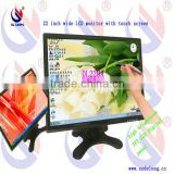 "Practical and affordable 22"" POS System Touch Screen Cheap LCD Monitor With VGA /DVI/AV"