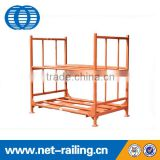 Stacking metal foldable warehouse tire rack storage system