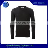 Custom Made High Quality New Design Plain Black Sweatshirt