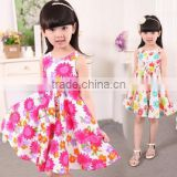2016 latest korean style children clothes cotton princess vest dress fancy dresses for baby girl