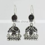 Beautiful Oxidized 925 Sterling Silver Earring, Fine Silver Jewelry, Indian Silver Jewellery