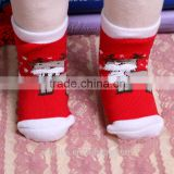 Baby Santa Clause Red Christmas Terry Sock