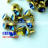 Hot sale Open end rhinestone crystal rivet for belts, acrylic diamond rivets and studs, leather rhinestone rivets