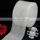 Best Price Wholesale Elastic Plastic cup chain rhinestone trimming, Stetch Crystal Rhinestone Trims Mesh Banding for Wedding