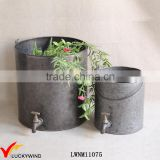Handmade Bucket Style Metal Vintage Faucet Planter                                                                         Quality Choice
